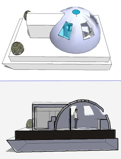 Schematics of the Waterford Habitat - AquaDome
