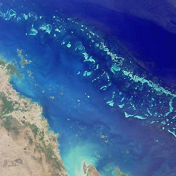 Great Barrier Reef, Australia. The effect of Cyclone Yasi on the Great Barrier Reef.
