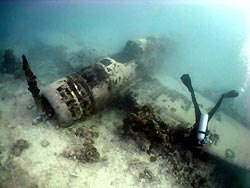 The wreck of a Jake Floatplane. New Ireland, Papua New Guinea.