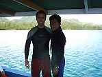 Brent, my dive buddy, and Agus, our dive guide. Bunaken, Sulawesi, Indonesia