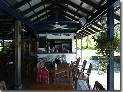 The Rainbow View Restaurant at Rose Gardens Resort, Palau.