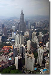 Kuala Lumpur as seen from KL tower