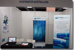 The underwater australasia booth at MIDE 2009, Kuala Lumpur, Malaysia.
