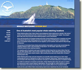 Whale watching Byron Bay web site