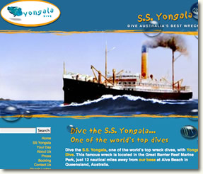 Yongala Diving web site