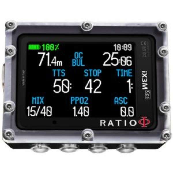 Ratio iX3M GPS Tech+ Dive Computer