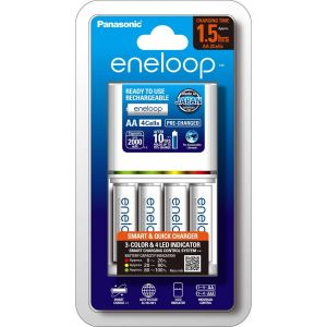 Eneloop 2hr Charger & 4x AA Battery
