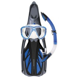 Mirage Platinum Adult Silicone Mask, Snorkel & Fin Set