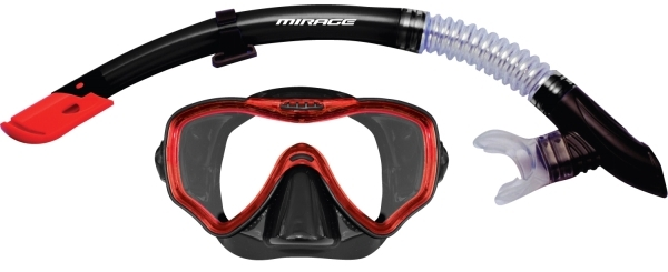 Mirage Adult Crystal Mask and Snorkel Set