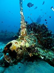 Catalina Flying Boat wreck at New Ireland, Papua New Guinea.
