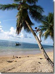 The island Rumung, the forbidden island, Yap, Micronesia