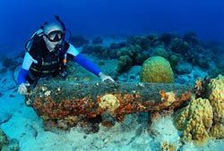 One of Gerhard's Canons - Cocos Keeling Islands, Western Australia