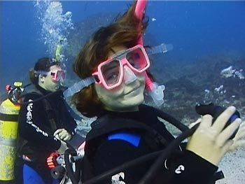 SCUBA diving is fun underwater. Go Diving!