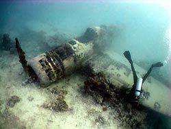 The wreck of a Jake Floatplane. New Ireland, Papua New Guinea.