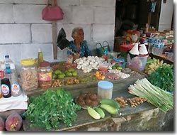 Market stall in Banda,Indonesia