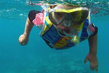 Max snorkeling on Ningaloo Reef, Exmouth Diving Centre. Exmouth, Western Australia