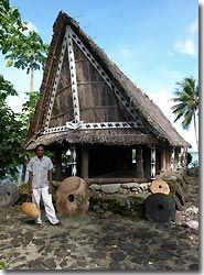 Men's House in a local village, Yap, Micronesia