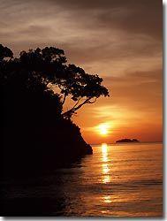 Sunset at Raja Ampat - diving from the Arenui at Raja Ampat, West-Papua, Indonesia.