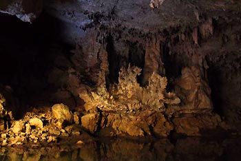 Stalactites. Tunnel Creek, Western Australia