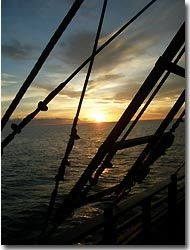 Sunset on board the 'Archipelago Adventurer II', Banda,Indonesia