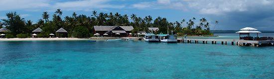 Wakatobi jetty and longhouse