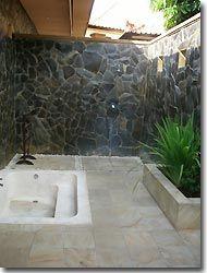 Outdoor Bathroom, Zen resort, Bali,Indonesia