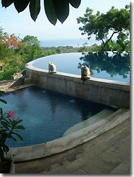 Pool with a view at the Zen resort, Bali,Indonesia