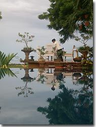 Table is being set a the Zen resort, Bali,Indonesia